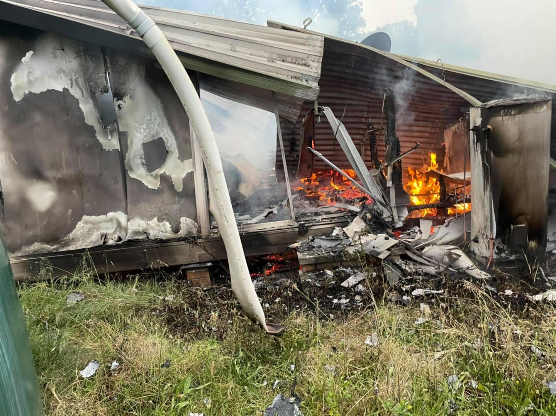House destroyed near Singleton