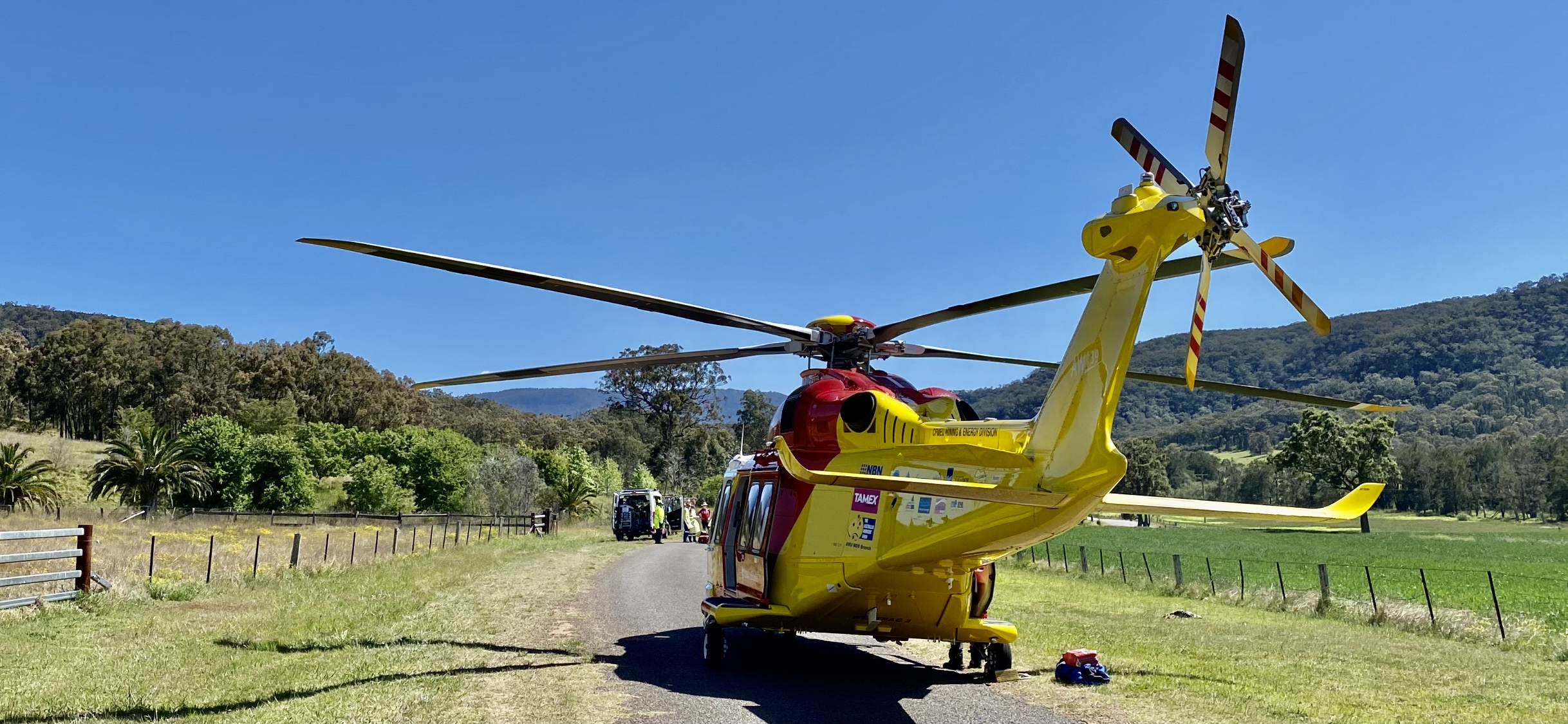 Cycling accident near Scone